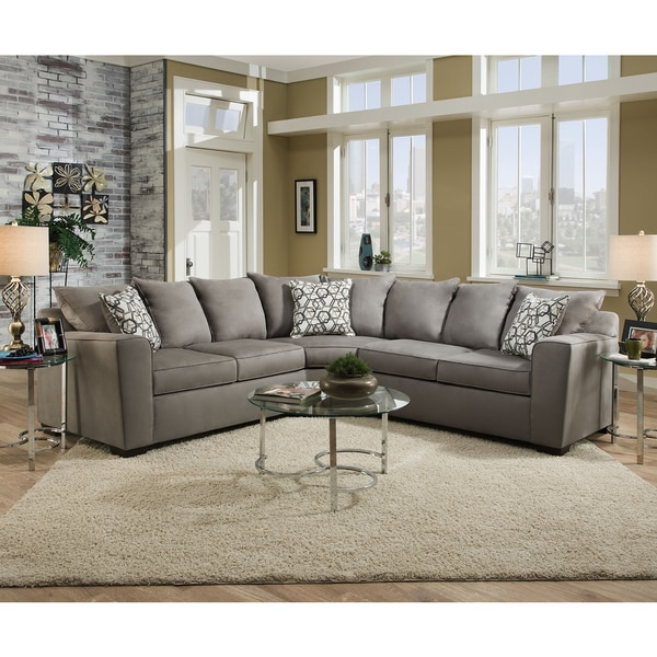 Simmons Upholstery Venture Smoke Sectional - Simmons Upholstery Venture Smoke Sectional - Free Shipping Today