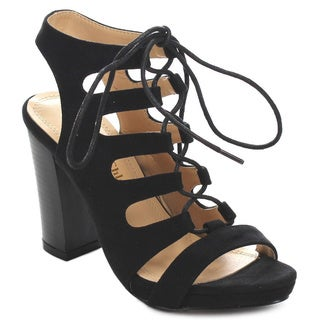 Beston CC64 Women's Chunky Lace Up Sandals
