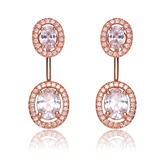 this is called ear puff or front and back or ear jackets earring very stylish now