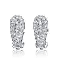 Collette Z Sterling Silver Cubic Zirconia Bundle Earrings - White