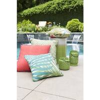 Decorative Admission 16-inch  Emerald Green Throw Pillow