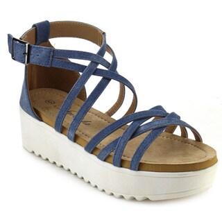 ATREVIDA SHAPPA-02 Women's Lug Sole Flatform Sandals