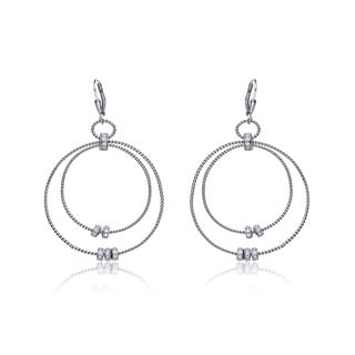 Collette Z Sterling Silver Two-Orbit Earrings
