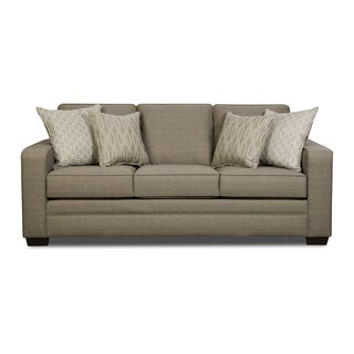 Simmons Upholstery Seguin Pewter Queen Sleeper Sofa
