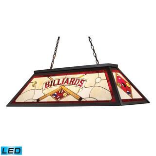 Elk Tiffany-style-lighting Tiffany-style Bronze 4-light LED Billiard Light