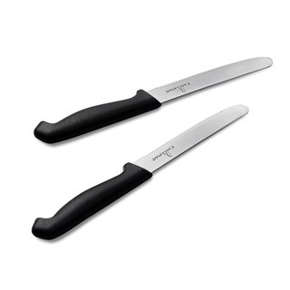 Culina Tomato Black Handle Extra Sharp German Steel Blade Knife (Set of 2)
