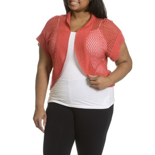 Sunny Leigh Women's Plus Size Crochet Shrug