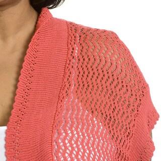 Sunny Leigh Women's Plus Size Crochet Shrug