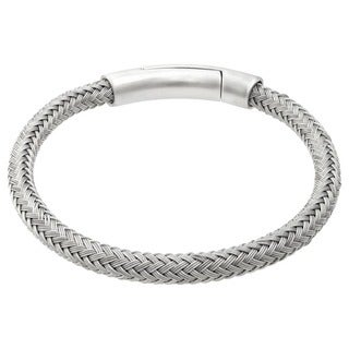 Stainless Steel Woven Bracelets with Magnetic Closure
