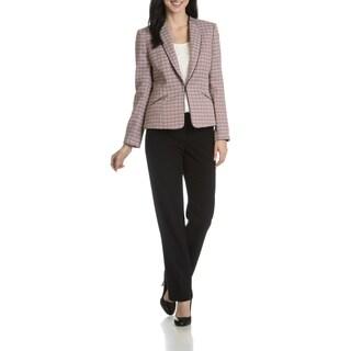 Tahari Arthur S. Levine Women's Coral Boucle 2-Piece Pant Suit