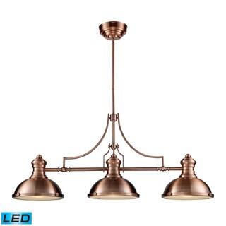 Elk Chadwick Antique Copper 3-light LED Billiard