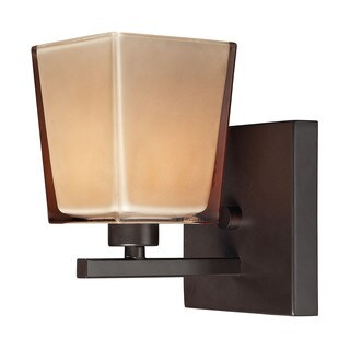 Elk Serenity Oiled Bronze and Tan Glass 1-light Vanity