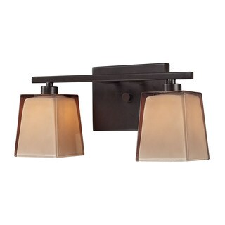 Elk Serenity Oiled Bronze and Tan Glass 2-light Vanity