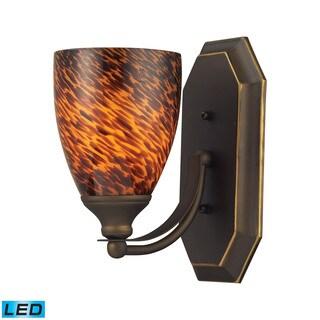 Elk Bath Aged Bronze and Espresso Glass 1-light LED Vanity