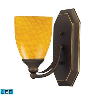 Elk Bath Aged Bronze and Canary Glass 1-light LED Vanity