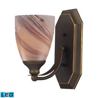 Elk Bath Aged Bronze and Creme Glass 1-light LED Vanity