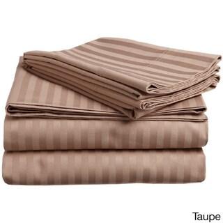 Vivendi 500 Thread Count Supima Cotton Damask Stripe Sheet Set