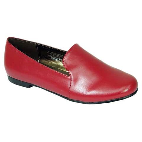 Fic Peerage Charlie Womens Extra Wide Width Leather Flats