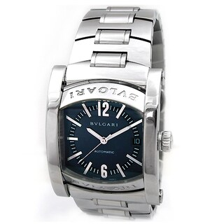 Pre-owned Bvlgari Stainless Steel AA4S1488D Assioma Automatic Watch