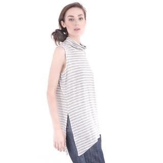 Bluberry Women's Turtle Neck Sleeveless Top|https://ak1.ostkcdn.com/images/products/11406553/P18371546.jpg?impolicy=medium
