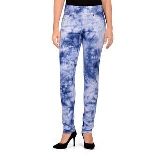 Bluberry Women's Tie and Dye Slim Leg Denim