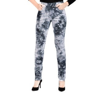 Bluberry Women's Tie and Dye Slim Leg Denim