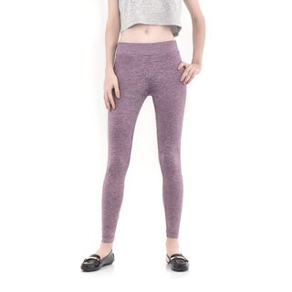 Bluberry Women's Purple Grey Mix Super Comfort Legging