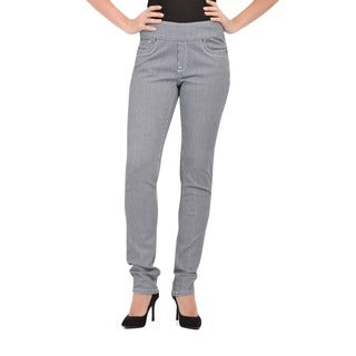 Bluberry Women's Tint wash Stripe Slim Leg Denim