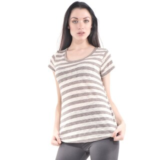 Bluberry Women's Round Neck Cap Sleeve Tee|https://ak1.ostkcdn.com/images/products/11406664/P18371630.jpg?_ostk_perf_=percv&impolicy=medium