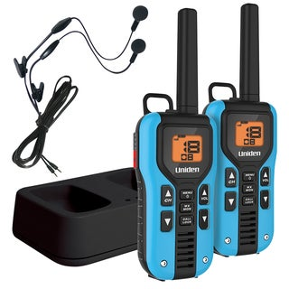 Uniden GMR4055-2CKHS Two Way Radio with 40 Mile Range, Charger and Headsets