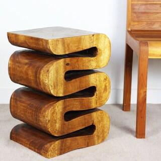 Handmade Wave Walnut Oil Table (Thailand)
