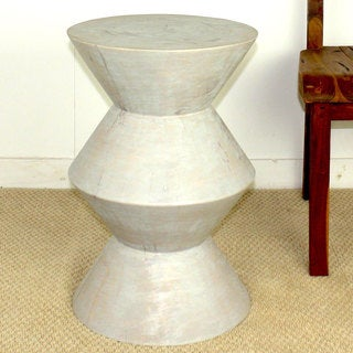 Agate Grey Oil Mango Solid Inverted V Stool