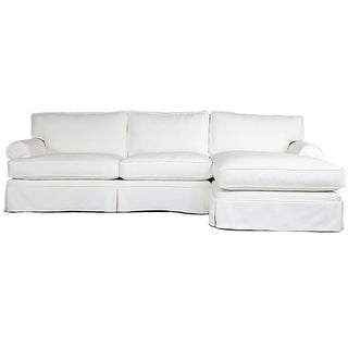 Conrad Ivory Upholstered Chaise Sectional