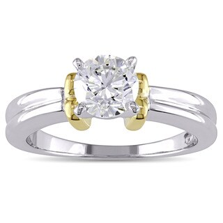 Miadora Signature Collection 14k Two-tone White and Yellow Gold 1ct TDW Diamond Solitaire Engagement