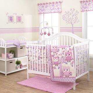 Belle Dancing Owl 3 Piece Crib Bedding Set