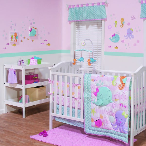 Shop Belle Sea Sweetie 3 Piece Girl Crib Bedding Set
