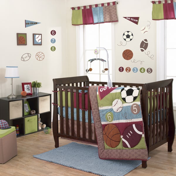 Shop Belle Sports Star 3 Piece Boy Crib Bedding Set Free