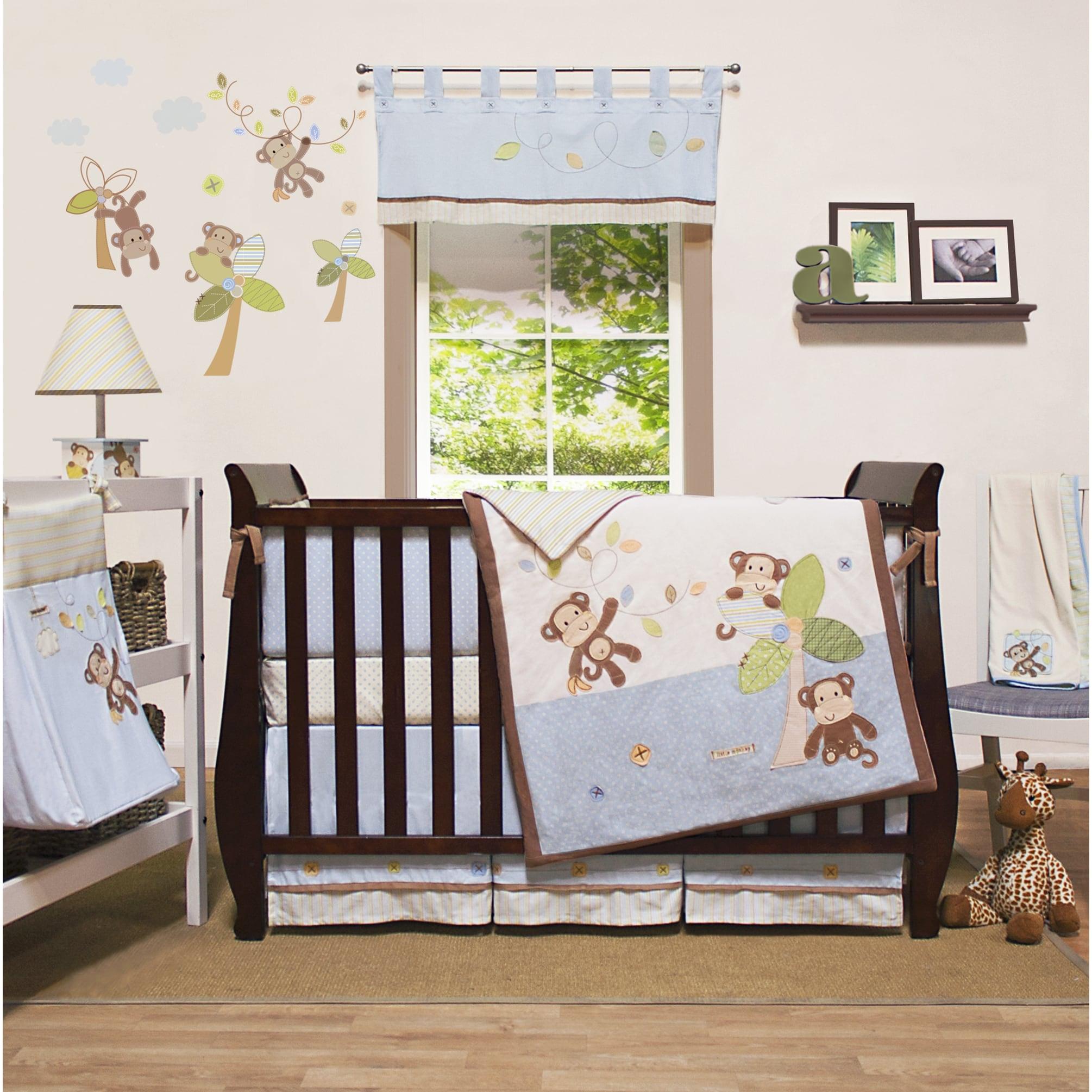 Little Haven Go Bananas Organic 4-piece Crib Bedding Set ...