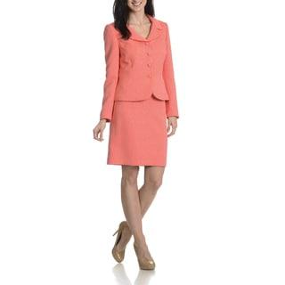 Tahari Arthur S. Levine Women's Jacquard 2 Piece Skirt Suit