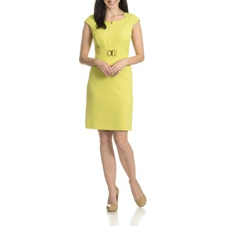 Tahari Arthur S. Levine Women's Faux Belted Sheath Dress
