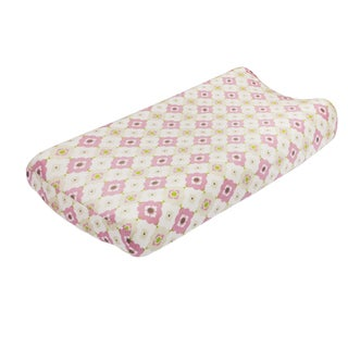 Petit Nest Penelope Multi Flower Jersey Changing Pad Cover