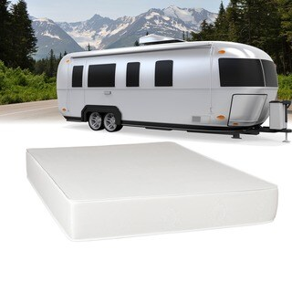 Select Luxury Airflow Flippable RV 8-inch Queen Short-size Foam Mattress - White