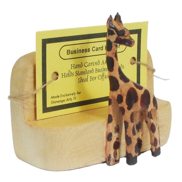 Shop Handmade Giraffe Business Card Holder Kenya Free Shipping