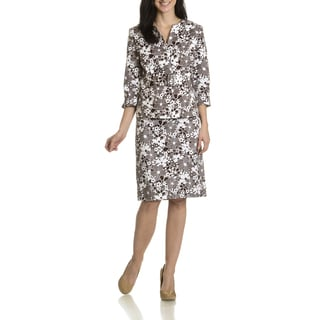 Danillo Women's Floral Print 2-piece Skirt Suit