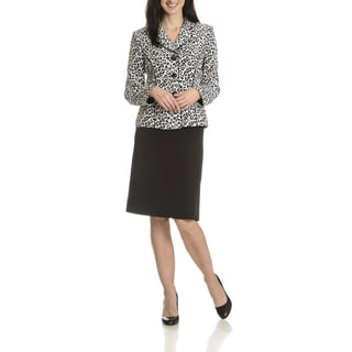 Danillo Women's Animal Print 2-piece Skirt Suit