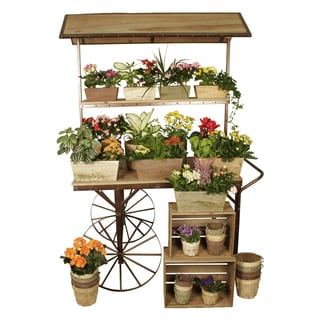 Deer Park Ironworks Large Flower Cart Free Shipping