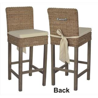 Crafted Home Cherry Rattan Barstool