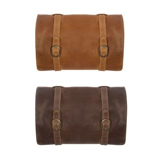 Canyon Outback Buffalo Mountain Hanging Leather Toiletry Bag
