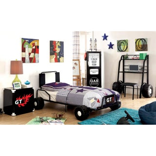 Furniture of America Jamie Metal 5-piece Racing Twin-size Bedroom Set (3 options available)