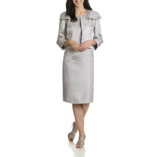 Danillo Women's Metallic 2-piece Dress Suit (Option: Silver)|https://ak1.ostkcdn.com/images/products/11407570/P18372351.jpg?impolicy=medium